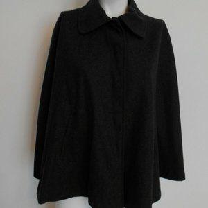 Cejon Gray Wool Blend Cape Coat Size S/M